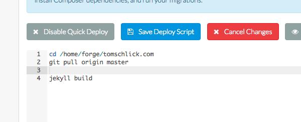 modify deployment script